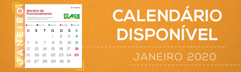 calendário janeiro 2020