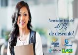 Associados ACE Ourinhos se beneficiam de até 40% de desconto em cursos de graduação e pós-graduação.