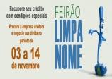 Feirão Limpa Nome começa no próximo dia 03