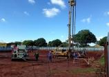 A TODO VAPOR Depois da terraplanagem, começaram obras de fundação do Senac Ourinhos
