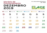 ACE Ourinhos divulga horários especiais do comércio para final de ano