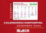 ACE divulga calendário do comércio com horários especiais para dezembro.