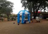 Tendas da Zona Azul já estão recebendo doações